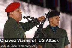 Chavez Warns of US Attack