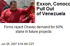Exxon, Conoco Pull Out of Venezuela