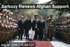 Sarkozy Renews Afghan Support