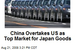 China Overtakes US as Top Market for Japan Goods