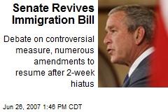 Senate Revives Immigration Bill
