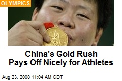 China's Gold Rush Pays Off Nicely for Athletes