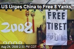 US Urges China to Free 8 Yanks