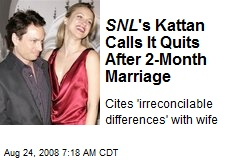 SNL 's Kattan Calls It Quits After 2-Month Marriage