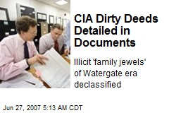 CIA Dirty Deeds Detailed in Documents