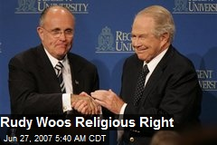 Rudy Woos Religious Right