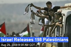 Israel Releases 198 Palestinians