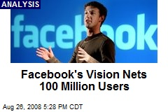 Facebook's Vision Nets 100 Million Users