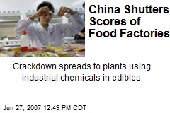 China Shutters Scores of Food Factories