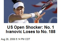 US Open Shocker: No. 1 Ivanovic Loses to No. 188