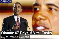 Obama: 67 Days, 6 Vital Tasks