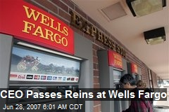 CEO Passes Reins at Wells Fargo