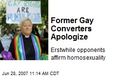 Former Gay Converters Apologize