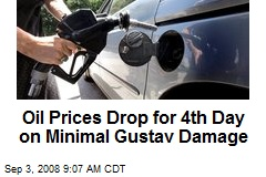 Oil Prices Drop for 4th Day on Minimal Gustav Damage