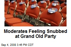 Moderates Feeling Snubbed at Grand Old Party