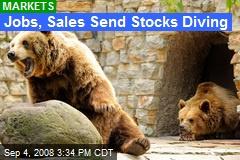 Jobs, Sales Send Stocks Diving
