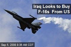 Iraq Looks to Buy F-16s From US