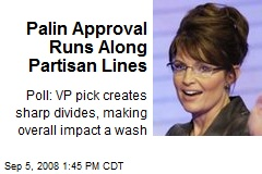 Palin Approval Runs Along Partisan Lines