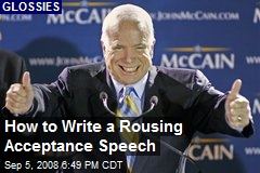 How to Write a Rousing Acceptance Speech
