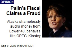 Palin's Fiscal Claims a Fraud