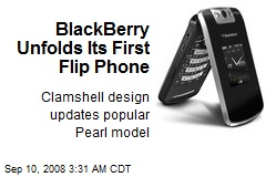 BlackBerry Unfolds Its First Flip Phone