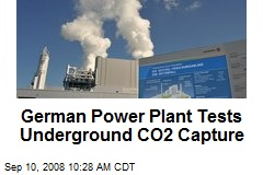 German Power Plant Tests Underground CO2 Capture