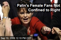 Palin's Female Fans Not Confined to Right