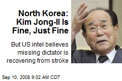 North Korea: Kim Jong-Il Is Fine, Just Fine