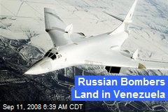 Russian Bombers Land in Venezuela