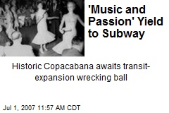 'Music and Passion' Yield to Subway