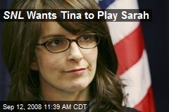 SNL Wants Tina to Play Sarah
