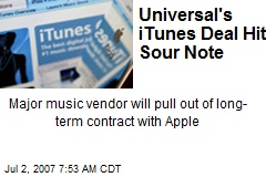 Universal's iTunes Deal Hits Sour Note