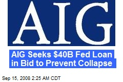 AIG Seeks $40B Fed Loan in Bid to Prevent Collapse