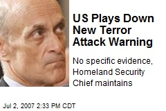 US Plays Down New Terror Attack Warning