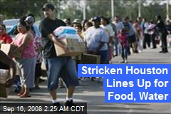Stricken Houston Lines Up for Food, Water