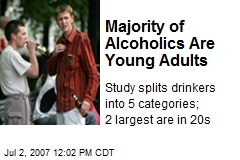 Majority of Alcoholics Are Young Adults