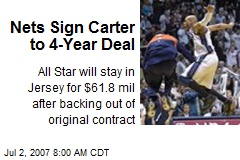 Nets Sign Carter to 4-Year Deal