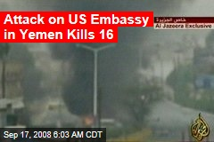 Attack on US Embassy in Yemen Kills 16