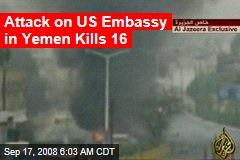 Attack on US Embassy in Yemen Kills 16