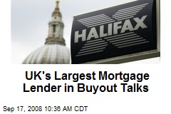 UK's Largest Mortgage Lender in Buyout Talks