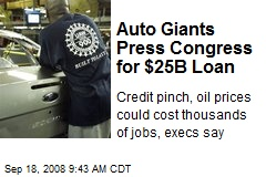 Auto Giants Press Congress for $25B Loan
