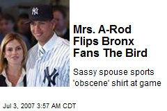Mrs. A-Rod Flips Bronx Fans The Bird