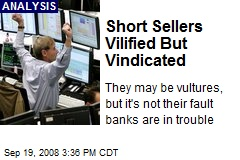 Short Sellers Vilified But Vindicated