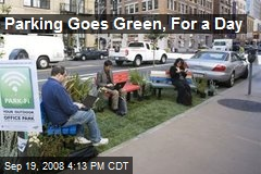 Parking Goes Green, For a Day