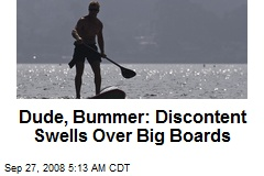 Dude, Bummer: Discontent Swells Over Big Boards