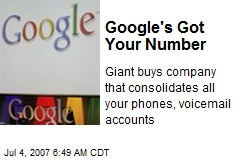 Google's Got Your Number