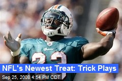 NFL's Newest Treat: Trick Plays