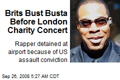 Brits Bust Busta Before London Charity Concert