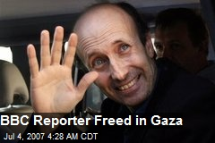 BBC Reporter Freed in Gaza