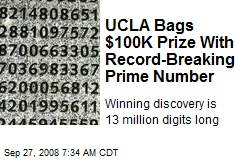 UCLA Bags $100K Prize With Record-Breaking Prime Number